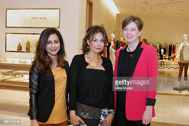 Soraya Ghebleh Pune Ghebleh and Dennita Sewell pose during the Barneys New York And Renee Parsons Host A Cocktail Event In Support Of Free Arts...