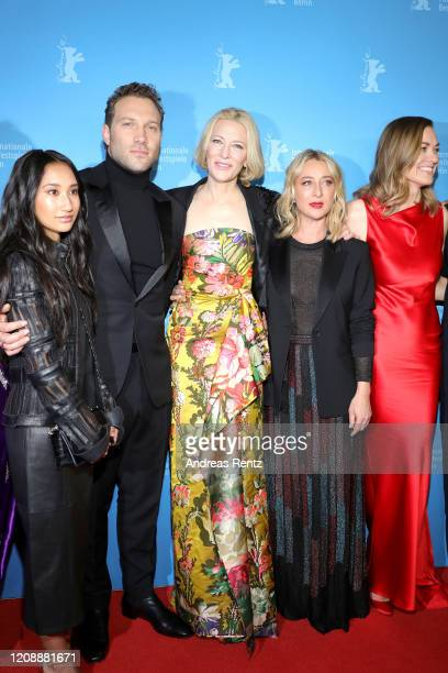 "Soraya Heidari, Jai Courtney, Cate Blanchett, Asher Keddie and Yvonne Strahovski pose at the ""Stateless"" premiere during the 70th Berlinale..."