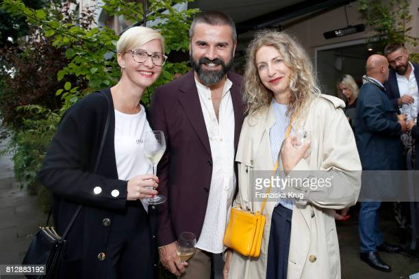 Soraya Kuehne Andreas Haumesser and Sue Giers attend the 'Krug Kiosk' Event on July 11 2017 in Hamburg Germany