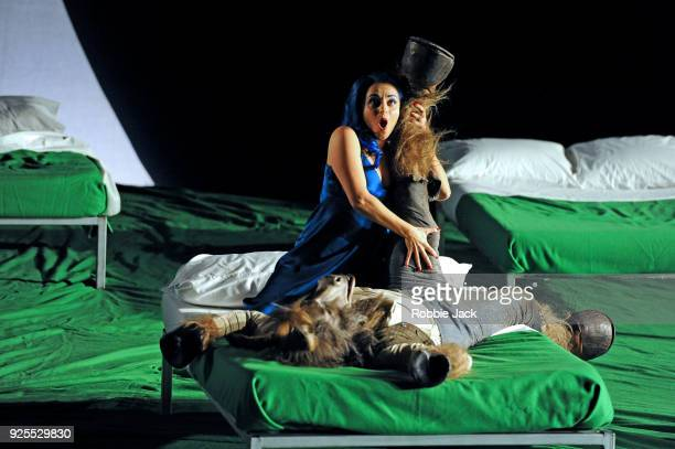 Soraya Mafi as Tytania and Joshua Bloom as Bottom in English National Opera's Production Of Benjamin Britten's A Midsummer Night's Dream directed by...