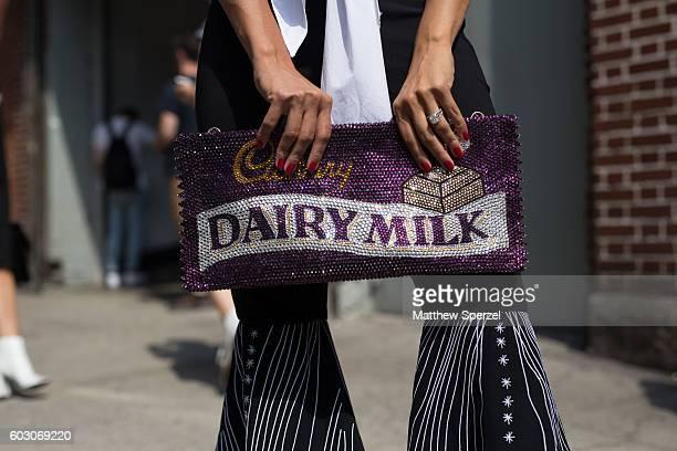 Soraya Pena is seen attending Tibi during New York Fashion Week on September 10 2016 in New York City