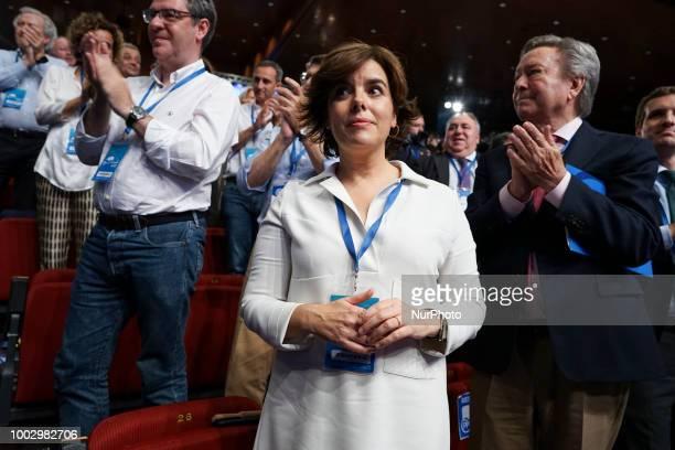 Soraya Saenz de Santamaria attend the Partido Popular national congress held in Madrid Spain 20 July 2018