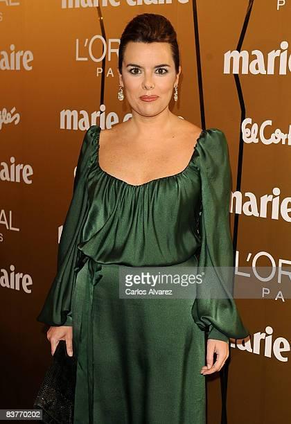 Soraya Saenz de Santamaria attends Marie Claire Prix de la Mode 2008 awards at French Embassy on November 20 2008 in Madrid Spain
