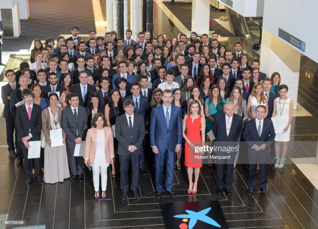 Spanish Royals Deliver 'La Caixa' Scholarships