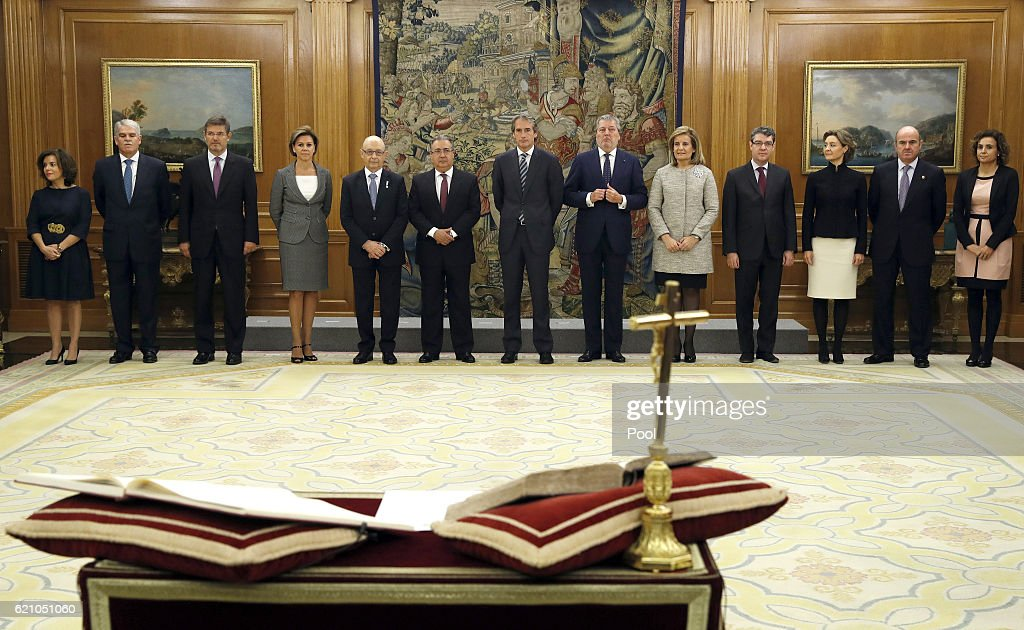 Presentation of Rajoy's New Government at Zarzuela Palace