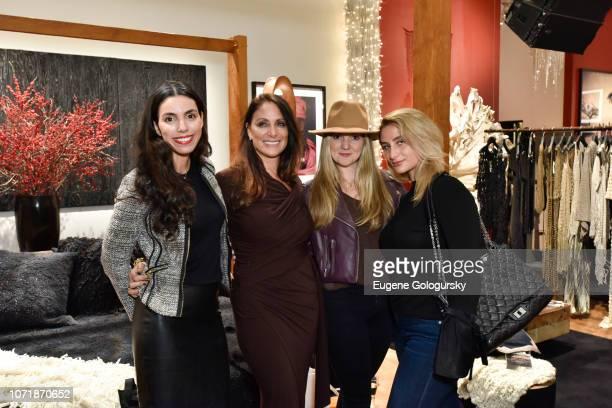 Soraya Tufano Lynn Scotti Suzi Baleson and Anna Kassar attend the International Folk Art Market x Urban Zen Marketplace on December 11 2018 in New...