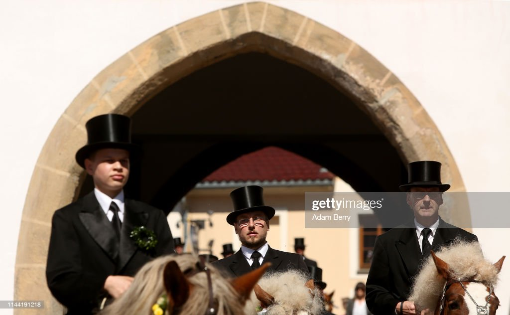 DEU: Sorbian Easter Riders Annual Horseback Procession