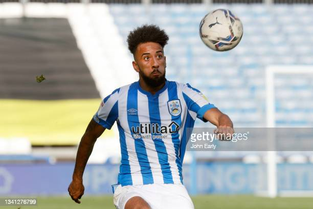 Sorba Thomas of Huddersfield Town during the Sky Bet Championship match between Huddersfield Town and Nottingham Forest at Kirklees Stadium on...