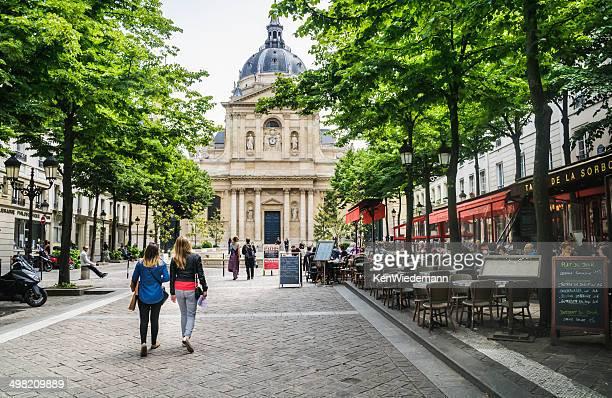 sorbonne square-paris - university of paris stock photos and pictures
