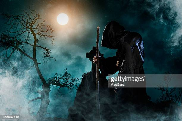sorcerer - evil stock photos and pictures