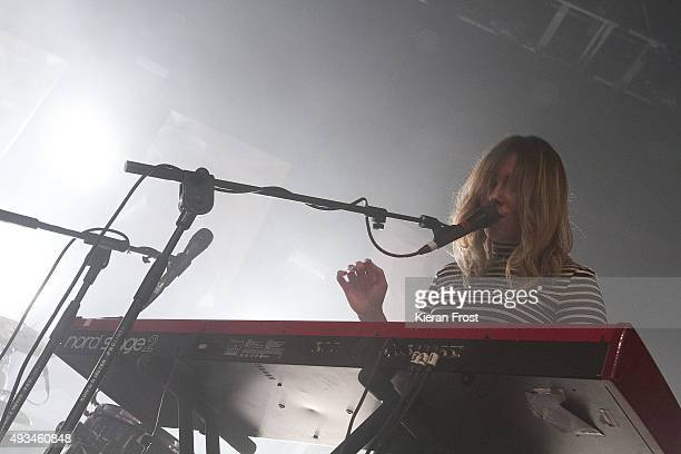Sorcha Durham of Walking on Cars performs at The Olympia Theatre on October 20, 2015 in Dublin, Ireland.