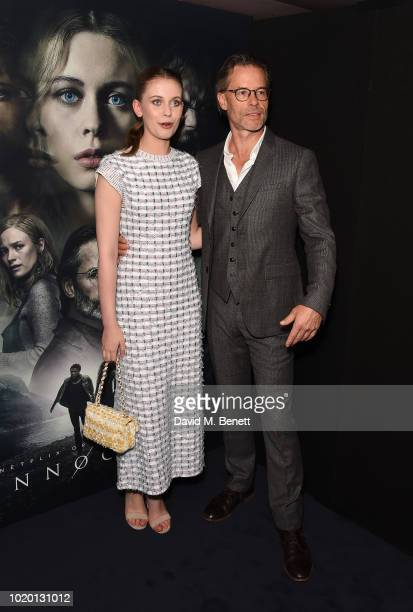 Sorcha Groundsell and Guy Pearce attend a special screening of The Innocents at The Curzon Mayfair on August 20 2018 in London England