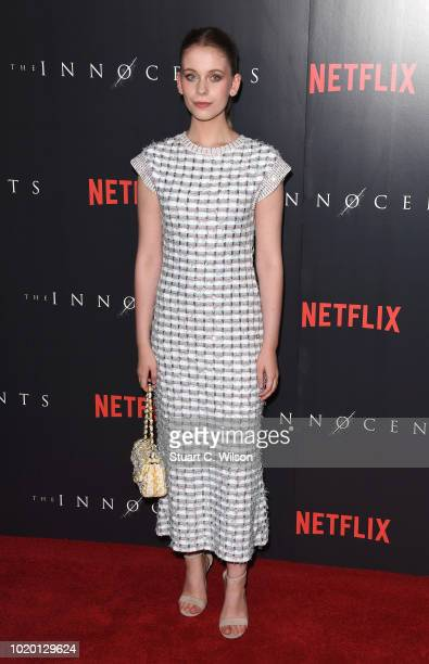 Sorcha Groundsell attends a special screening of the Netflix show The Innocents at the Curzon Mayfair on August 20 2018 in London England