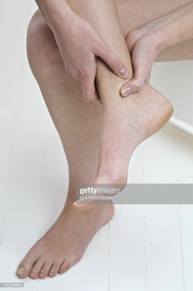Sore ankle : Stock Photo