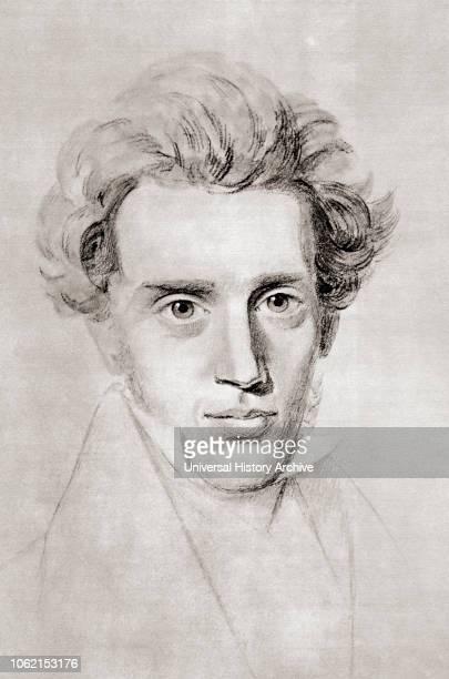 Soren Aabye Kierkegaard, 1813 - 1855 Danish philosopher, theologian, poet, social critic and religious author After a contemporary print.