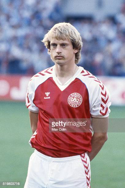 Soren Busk during the Football European Championship between Denmark and Belgium at Stade La Meinau Strasbourg France on 19 June 1984