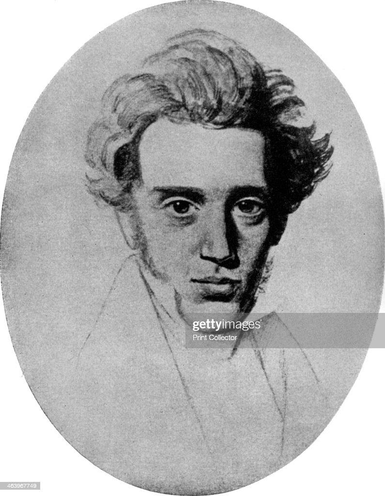 Soren Kierkegaard, Danish philosopher and theologian, c1840 (1956). : News Photo