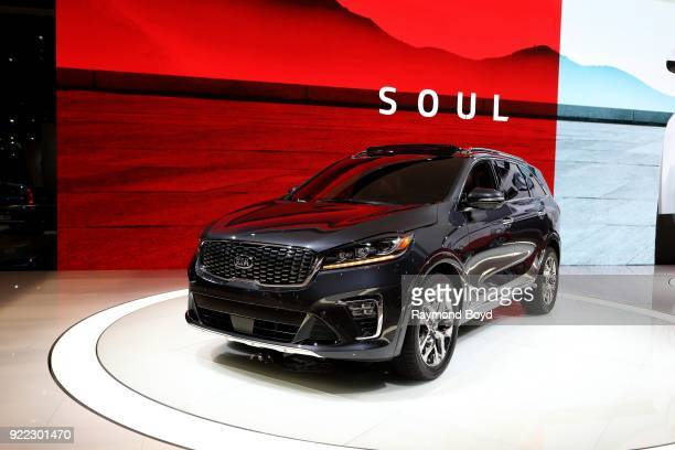 Sorento SXL is on display at the 110th Annual Chicago Auto Show at McCormick Place in Chicago Illinois on February 9 2018