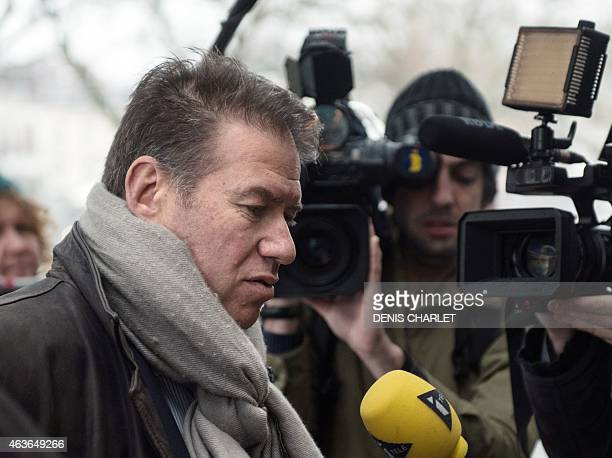 Sorin Margulis lawyer of the Frenchborn brothel owner Dominique Alderweireld aka 'Dodo la Saumure' answers journalists' questions as he arrives at...