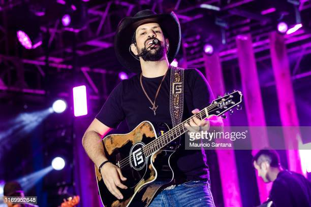 Sorocaba member of the duo Fernando and Sorocaba performs live on stage at Villa Country on September 21 2019 in Sao Paulo Brazil