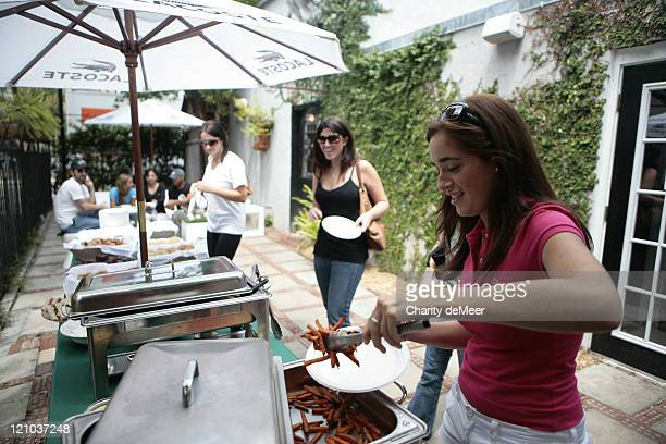 Sorority girl enjoys a snack at the party during Lacoste on Campus - University of Florida at University of Florida in Gainesville, Florida, United...