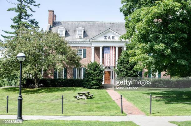 sorority house of dartmouth college in hanover - new hampshire during summer day - hanover new hampshire stock pictures, royalty-free photos & images