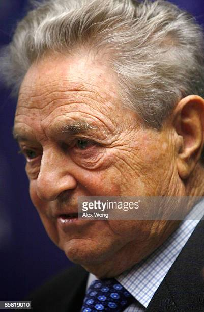 Soros Fund Management Chairman George Soros speaks during a discussion at the New America Foundation March 26 2009 in Washington DC Soros described...