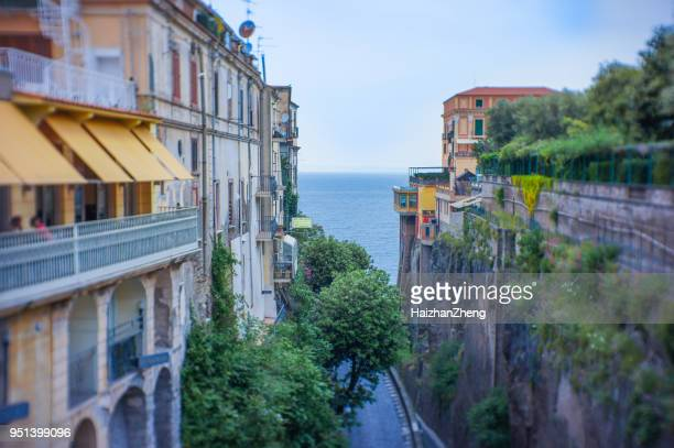 sorrento city view - sorrento italy stock pictures, royalty-free photos & images