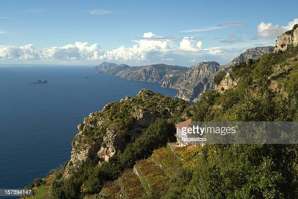 """sorrento peninsula from the """"god's trail"""" - sorrento italy stock pictures, royalty-free photos & images"""