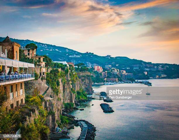 sorrento sunset - sorrento stock pictures, royalty-free photos & images