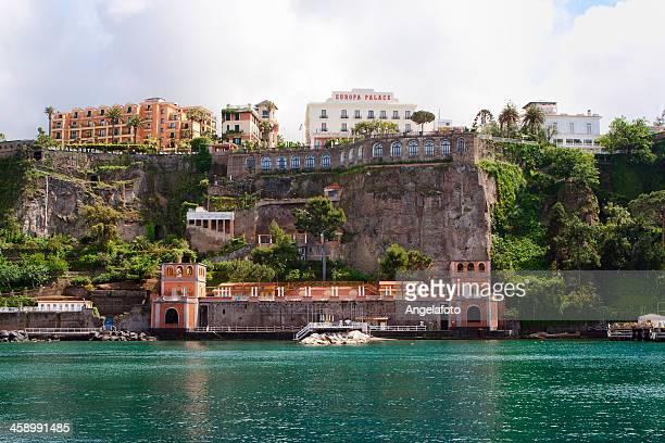 sorrento view of coastline - sorrento italy stock pictures, royalty-free photos & images