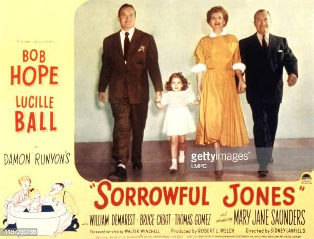 Sorrowful Jones lobbycard Bob Hope Mary Jane Saunders Lucille Ball William Demarest 1949