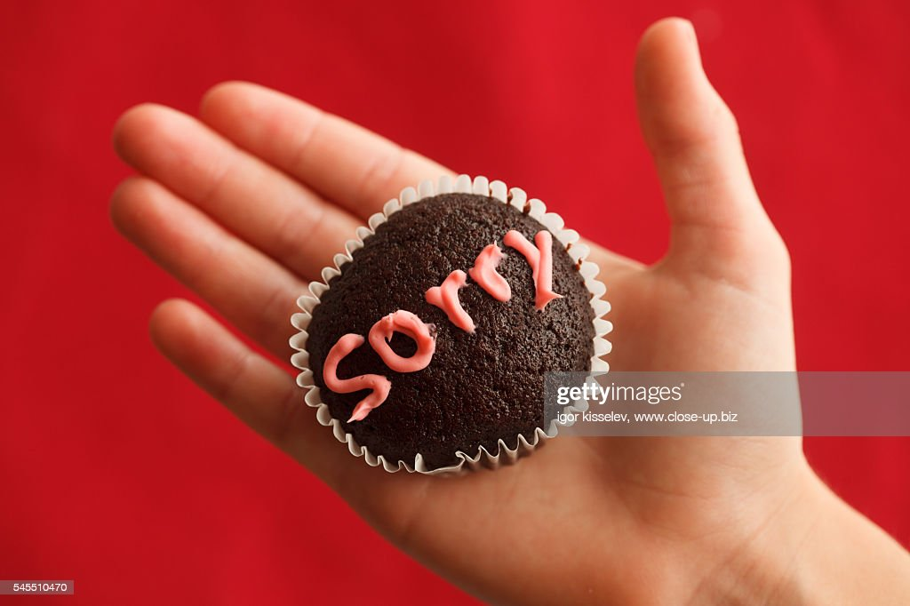 sorry muffin : Stock Photo