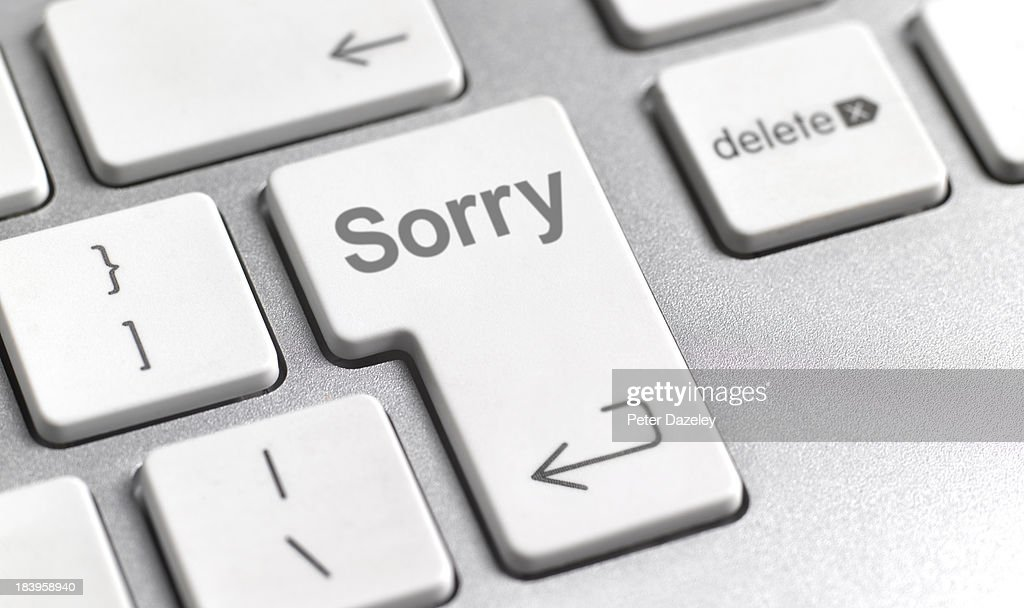 Sorry on computer keyboard : Stock Photo