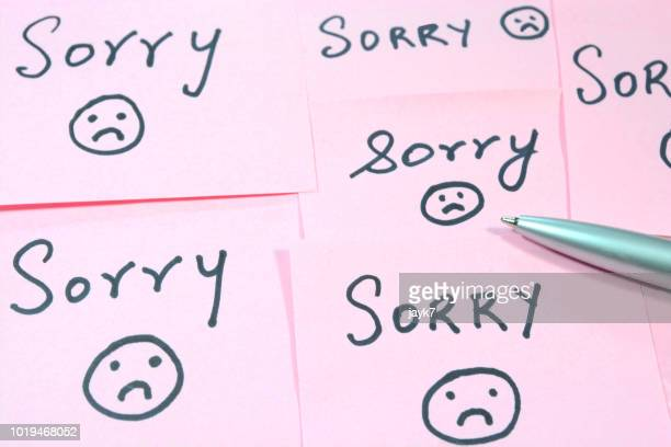 sorry - forgiveness stock pictures, royalty-free photos & images