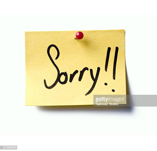 Sorry! post-it