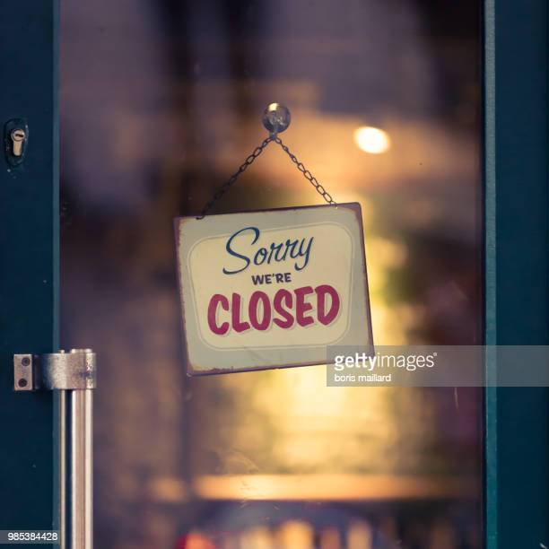 sorry, we are closed... - open for business stock pictures, royalty-free photos & images
