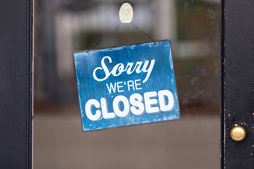 Sorry, we're closed 1075741436