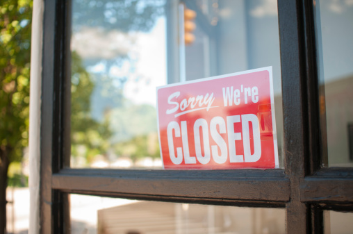Sorry, We're Closed Sign 171317531