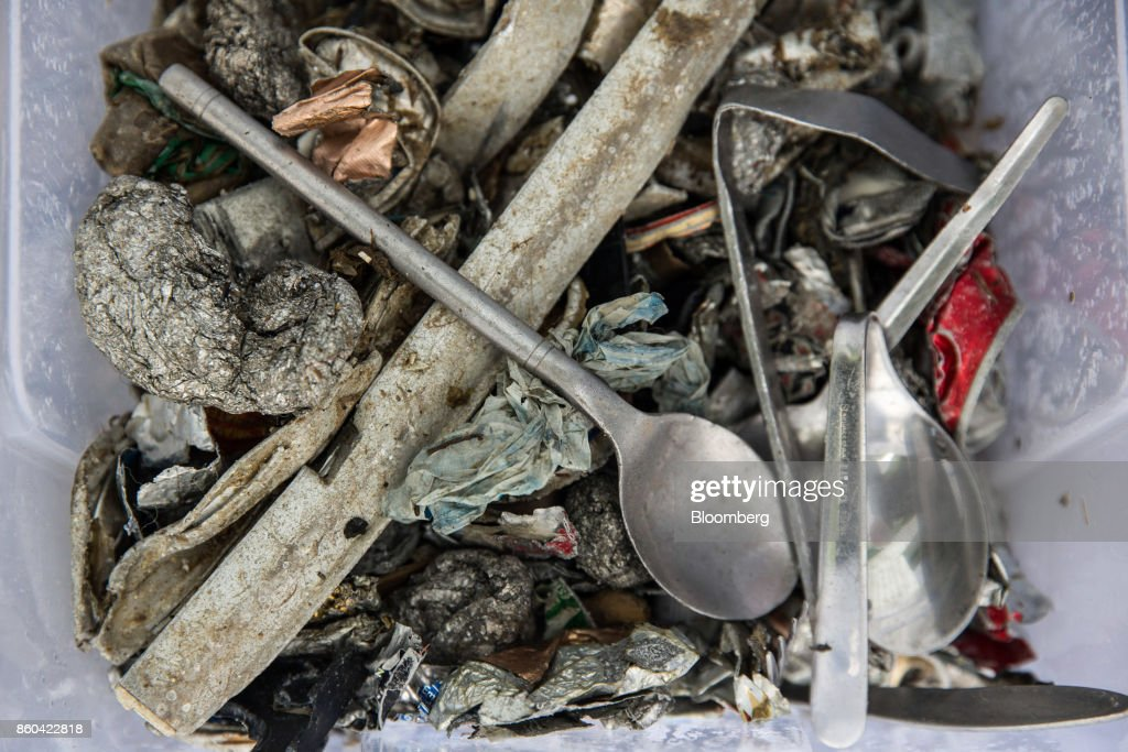 Sorted non-ferrous metal sits at the Renesciencewaste energy plant,operated by Dong Energy A/S, in Northwich, U.K., on Thursday, Oct. 5, 2017. The Renescience process starts with a giant claw that crunches into a mountain of trash and it ends with seven different types of materialfrom plastics to metals and biogas, that can be used to create electricity, recycled or sold on to a scrap yard. Nothing goes to landfill. Photographer: Matthew Lloyd/Bloomberg via Getty Images