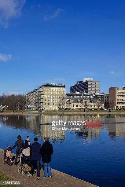 Sortedams lake, Copenhagen, Denmark, Scandinavia, Europe.
