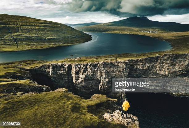 Sorvagsvatn cliffs at faroe islands