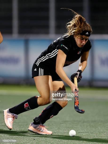 Sosha Benninga of Amsterdam Dames 1 during the Hoofdklasse Women match between Amsterdam v Pinoke at the Wagener Stadium on September 14 2018 in...