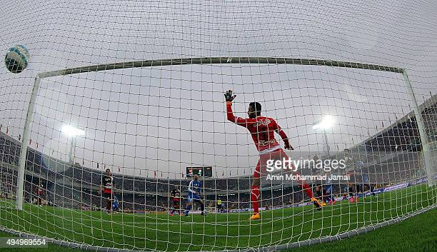Sosha Makani in action during the Iran Pro League match between Esteghlal and Perspolis at Azadi Stadium on October 30 2015 in Tehran Iran