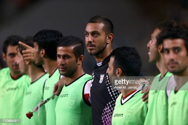 Sosha Makani of Iran during the FIFA 2014 World Cup Qualifier match between South Korea and Iran at Munsu Cup Stadium on June 18 2013 in Ulsan South...