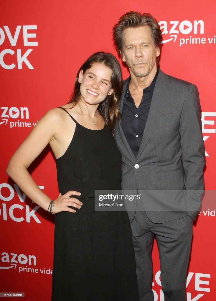 Sosie Bacon and Kevin Bacon arrive at the Los Angeles premiere of Amazon's 'I Love Dick' held at Linwood Dunn Theater on April 20, 2017 in Los Angeles, California.