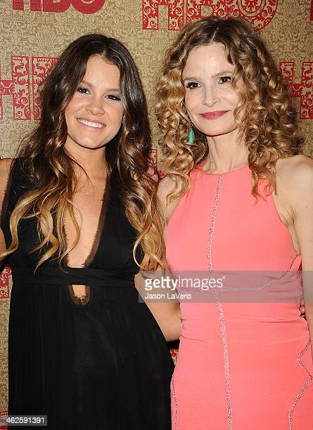 Sosie Bacon and Kyra Sedgwick attend HBO's Golden Globe Awards after party at Circa 55 Restaurant on January 12 2014 in Los Angeles California