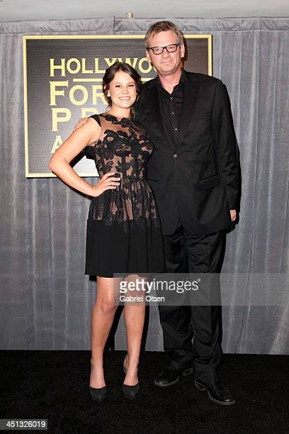 Sosie Bacon and Theo Kingma attend The Hollywood Foreign Press Association And InStyle Celebrates The 2014 Golden Globe Awards Season at Fig Olive...