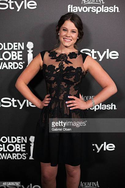 Sosie Bacon attends The Hollywood Foreign Press Association And InStyle Celebrates The 2014 Golden Globe Awards Season at Fig Olive Melrose Place on...