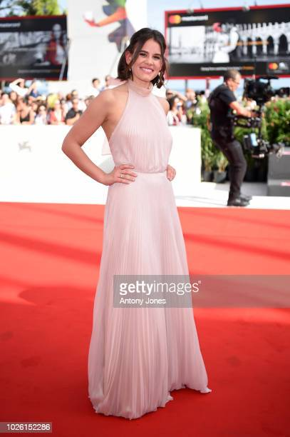 Sosie Bacon of the cast of 'Charlie Says' walks the red carpet ahead of the 'My Brilliant Friend ' screening during the 75th Venice Film Festival at...